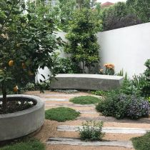 Seaside courtyard_Bench seat, citrus landscape.jpg